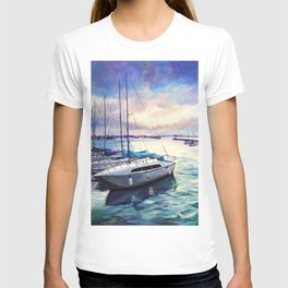 The cold blue T-shirt