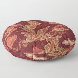 Crimson Clouds Floor Pillow
