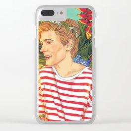 Flower Boy Isak Clear iPhone Case