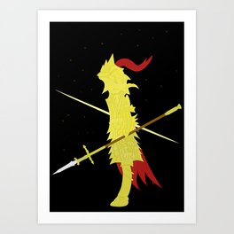 Dragon Slayer Ornstein ( Dark Souls I ) Art Print