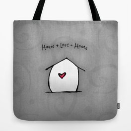 House + Love + Home Tote Bag