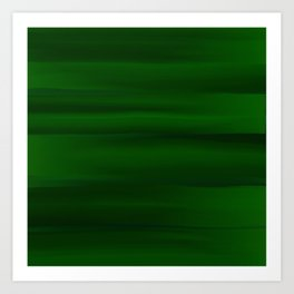 Emerald Green and Black Abstract Art Print