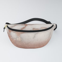 Shiny Copper Metal Foil Gold Ombre Bohemian Marble Fanny Pack