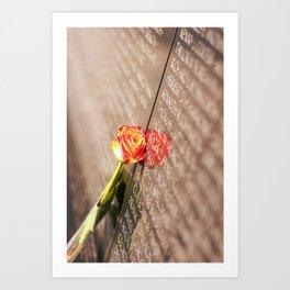 Vietnam Rose Art Print