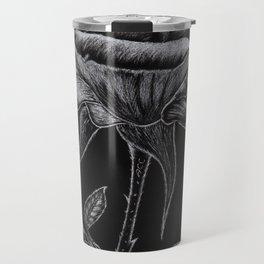 Silver Rose Travel Mug