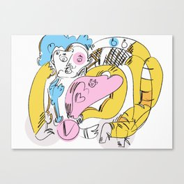 Figure with Bend Canvas Print