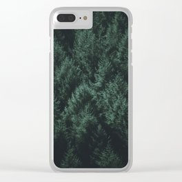 Dark Pines Clear iPhone Case