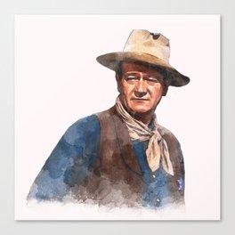 John Wayne - The Duke - Watercolor Canvas Print