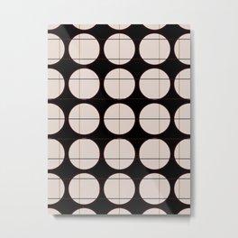 circle - grid Metal Print