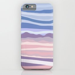 Bohemian Waves // Abstract Baby Blue Pinkish Blush Plum Purple Contemporary Light Mood Landscape  iPhone Case