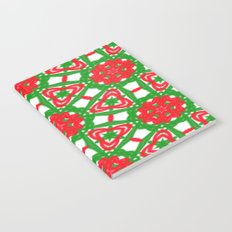 Red, Green and White Kaleidoscope 3372 Notebook