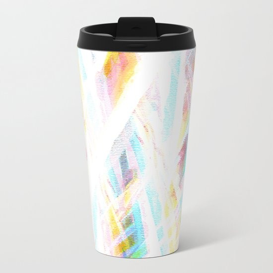 Color Rays Metal Travel Mug