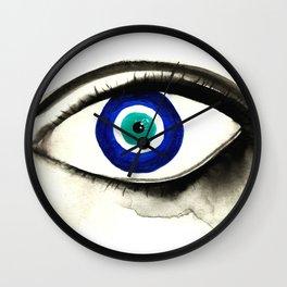 Evil Eye See You Wall Clock