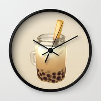 boba Wall Clocks featuring Boba by Cmdr Space Cat