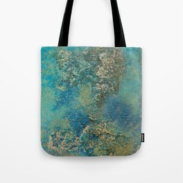 Blue And Gold Modern Abstract Art Painting Tote Bag