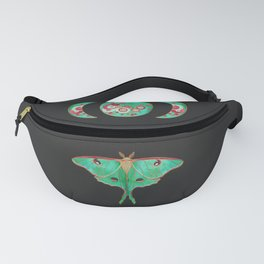 Luna Moth and Triple Moon Fanny Pack