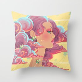 Up in the Clouds III Throw Pillow