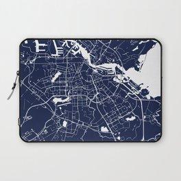 Amsterdam Navy Blue on White Street Map Laptop Sleeve