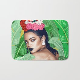 Rihanna naked Bath Mat