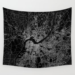 Louisville map Wall Tapestry