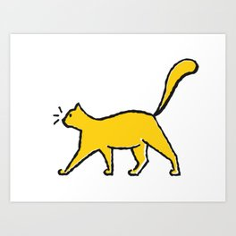 Kitty The Cat Art Print