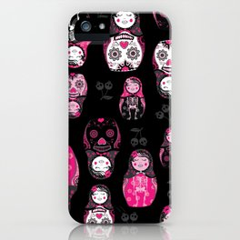 Russian/Mexican nesting dolls iPhone Case
