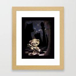 Teddy Chess Framed Art Print