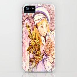 The Caroling Angel iPhone Case