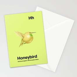 Hh - Honeybird // Half Hummingbird, Half Honeydew Melon Stationery Cards