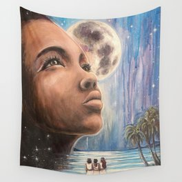 Sister Moon Wall Tapestry