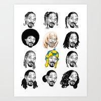 Snoop Dogg Hair Art Print
