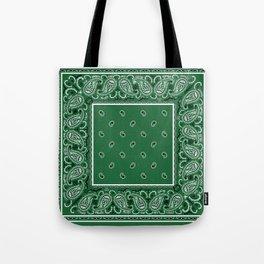 Classic Green Bandana Tote Bag