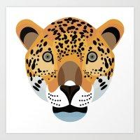 jaguar Art Prints featuring Jaguar by James Boast