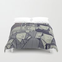 psycho Duvet Covers featuring Psycho by Ale Giorgini