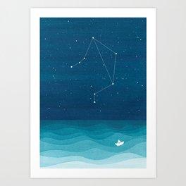 Libra zodiac constellation Art Print