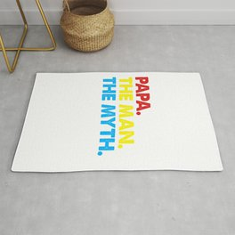 Fathers Day Gift Papa The Man The Myth The Legend Shirt Rug
