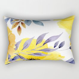 FLOWERS WATERCOLOR 10 Rectangular Pillow