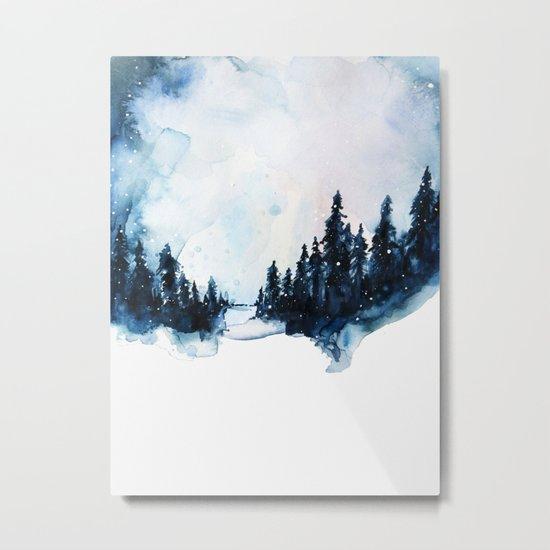 Winter Watercolor Metal Print