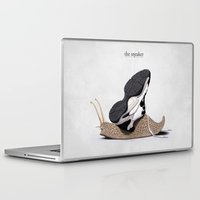 sneaker Laptop & iPad Skins featuring The Sneaker by rob art | illustration