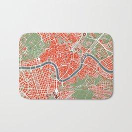 Rome city map classic Bath Mat
