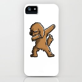 Funny Goldendoodle Dabbing iPhone Case