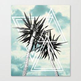 Cali Summer Vibes Palm Trees Geometric Triangles #1 #tropical #decor #art #society6 Canvas Print