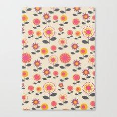 Floral Flight Pink Canvas Print