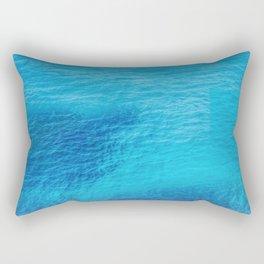 Bluest Blue Rectangular Pillow