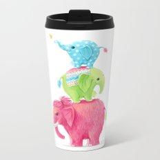 Elephants Metal Travel Mug