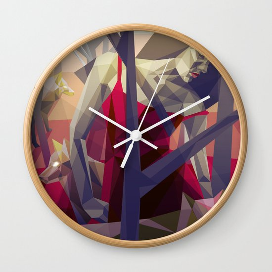 Of the hunt Wall Clock