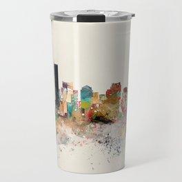 boston city skyline Travel Mug