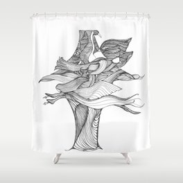 Wings and Things Shower Curtain