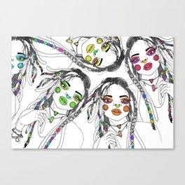 Digital_Girl Canvas Print