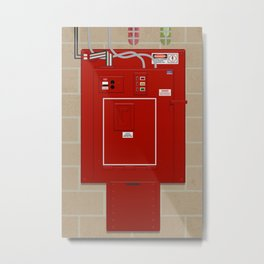 Ghostbusters Ecto-Containment System Metal Print